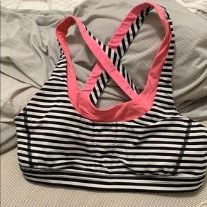 Lululemon quiet stripe sports bra 8